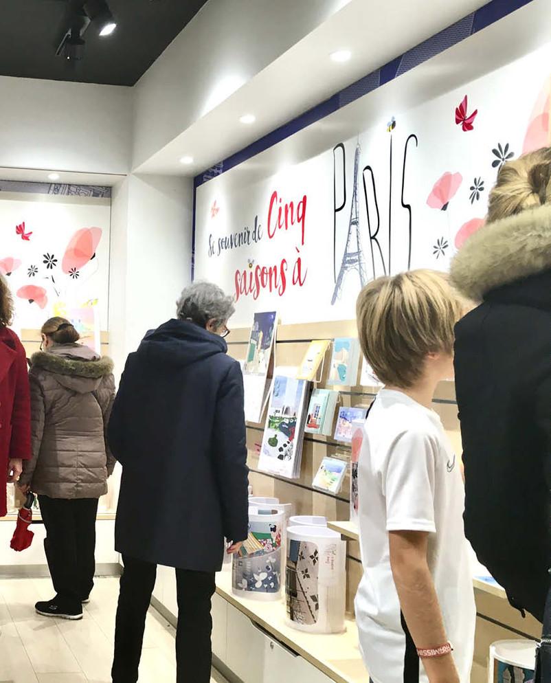 La boutique de l'exposition
