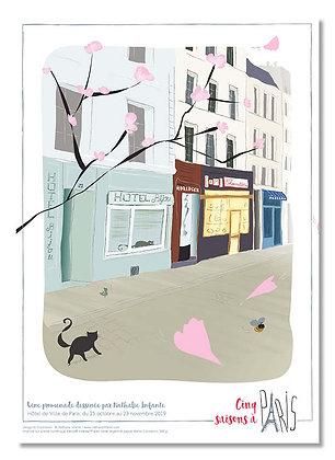 """Affiche """" Paris, il y a longtemps """""""