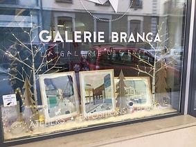 Vitrine de la Galerie Branca, Genève, images de Paris