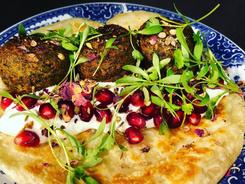 Pistachio falafel