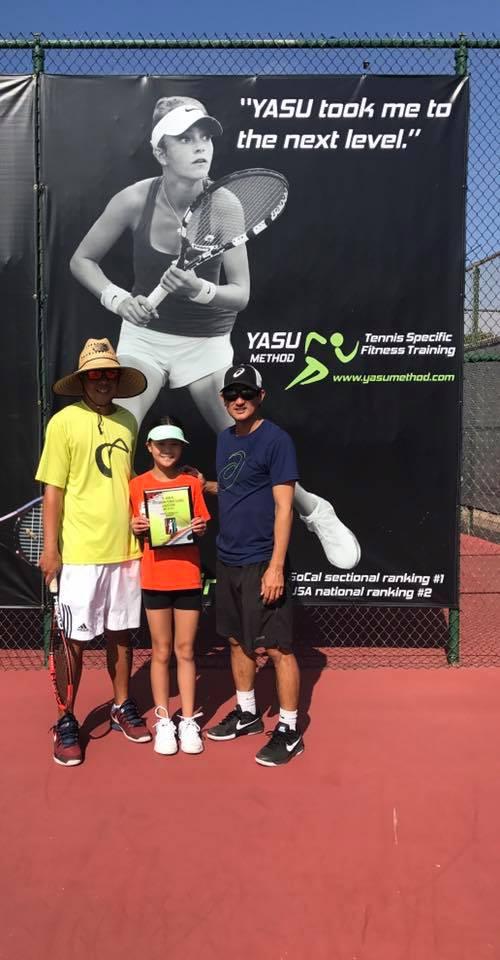 Aileen Yu and Coach Orlando