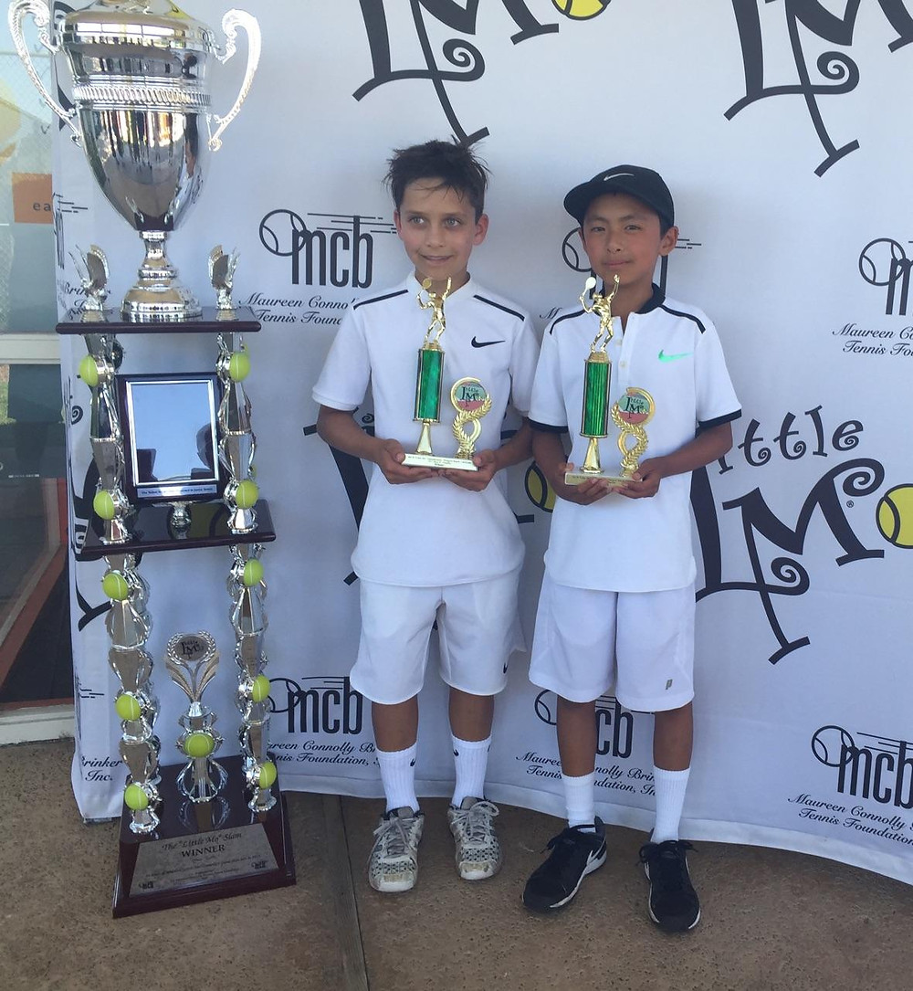 Our athlete Ansel Lee wins the Boy's 10s Little Mo doubles title with Ryan Honary!