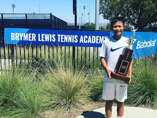 Long Time NexGen AP Tennis Player/Athlete Gets Ranked #1 in the Boy's 12s in Southern California