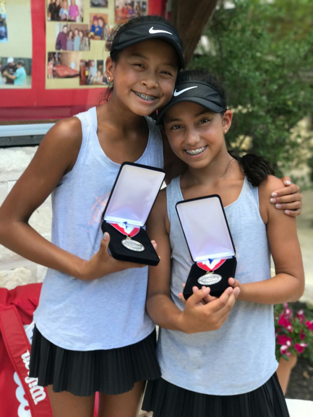 Isabella Chiiv, Girl's 12s Doubles Finalist and takes 6th place in singles at National level 2 Austin, Texas.