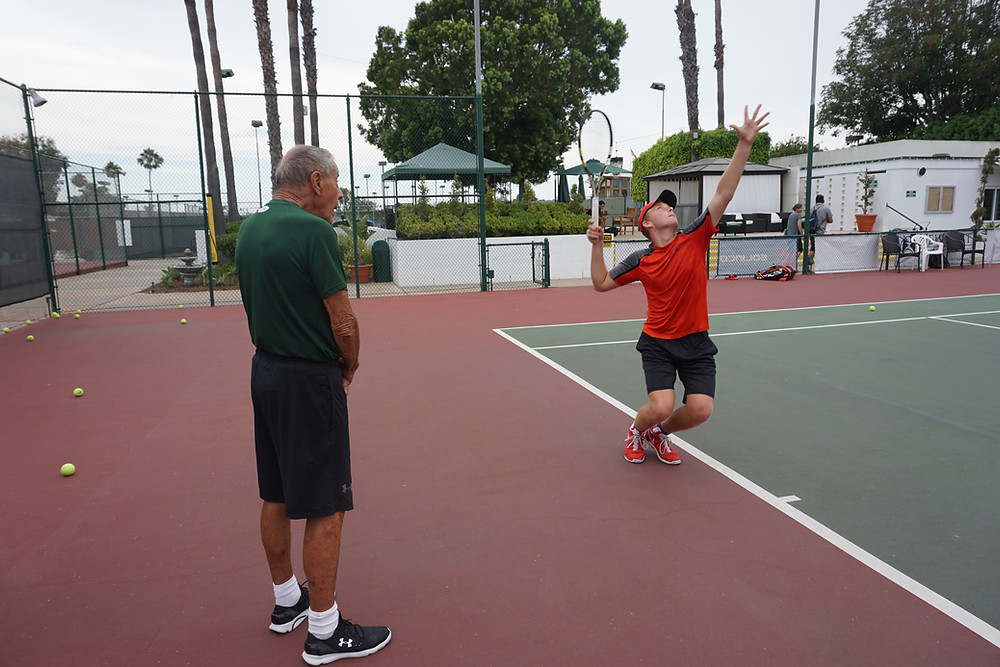 steven ferry's lesson with nick bollettieri