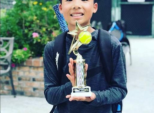 High Performance NexGen AP Champion Jonathan Wins Tennis Tournament