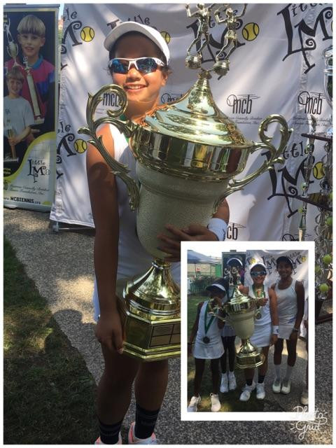 Stacey Samonte winning National girl's 12s little mo in new york