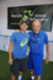Coach Nick Bollettieri at NexGen Athletic Performance with coach yasu minoda in newport beach california