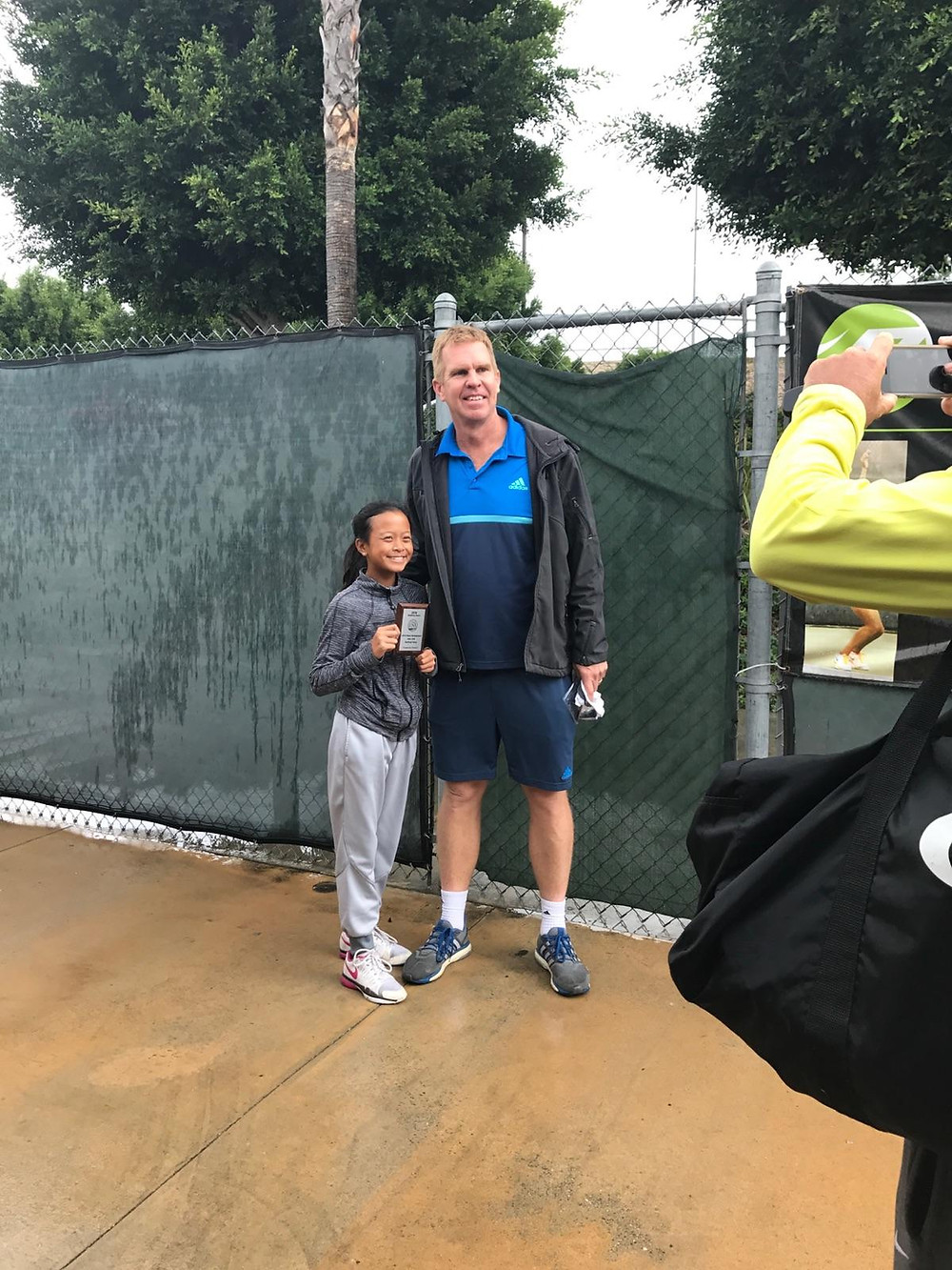 Isabella Chiiv was the only one player awarded for her resiliency on the court at the USTA camp in Carson