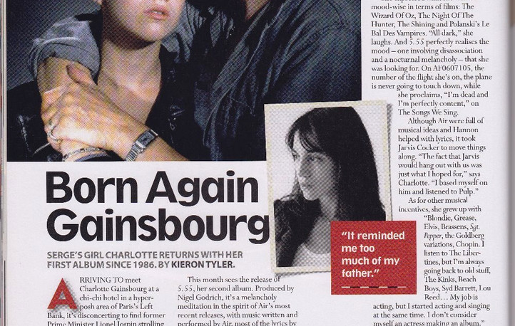 Charlotte Gainsbourg, 5.55 interview, MOJO