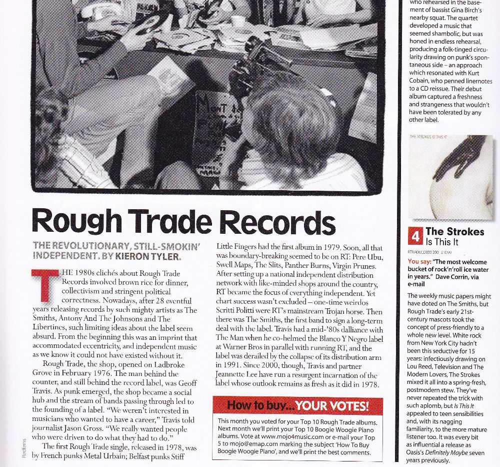 Rough Trade Records, retrospective, MOJO