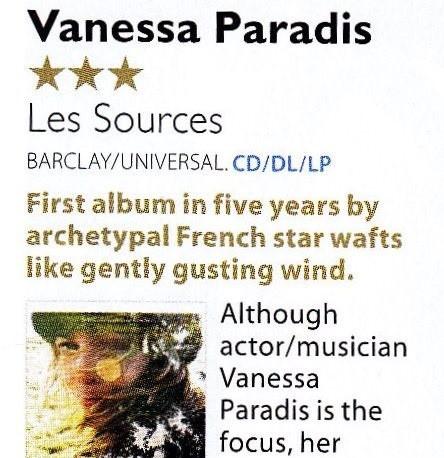 Vanessa Paradis, Les Sources, MOJO