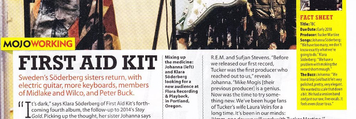 First Aid Kit, Ruins interview, MOJO