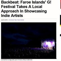 Faroe Islands' G Festival, Billboard, 30