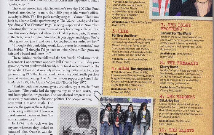 1976 (the year) retrospective, with singles listing, MOJO