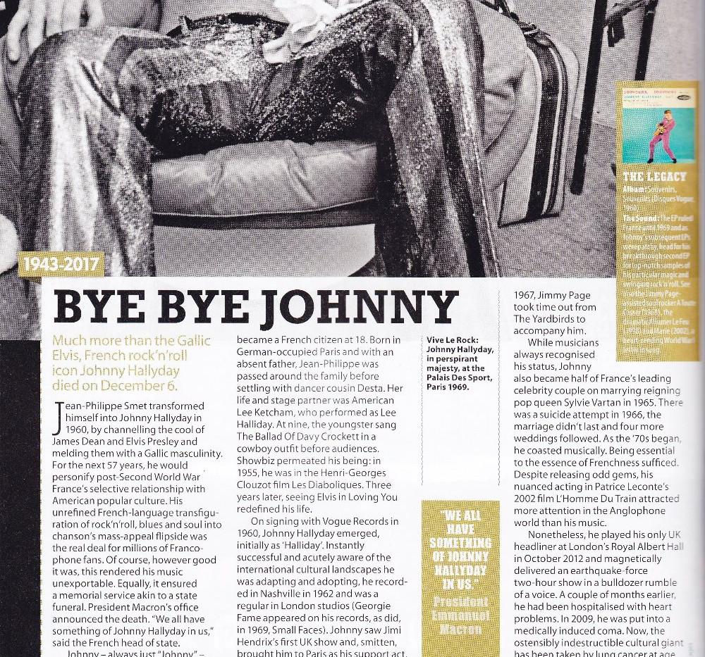 Johnny Hallyday obituary, MOJO