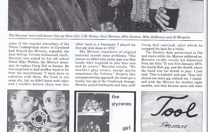 Electric City: Electric Eels, The Styrenes, Cleveland pre-punk, retrospective and interviews, Record Collector