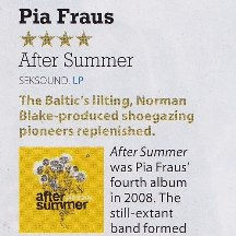 Pia Fraus, After Summer reissue, MOJO 28