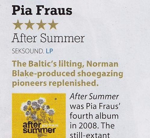 Pia Fraus, After Summer, MOJO