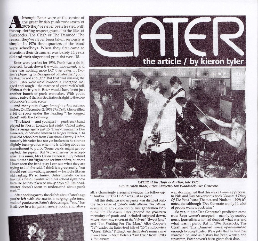 Eater,  interviews and retrospective, Ugly Things