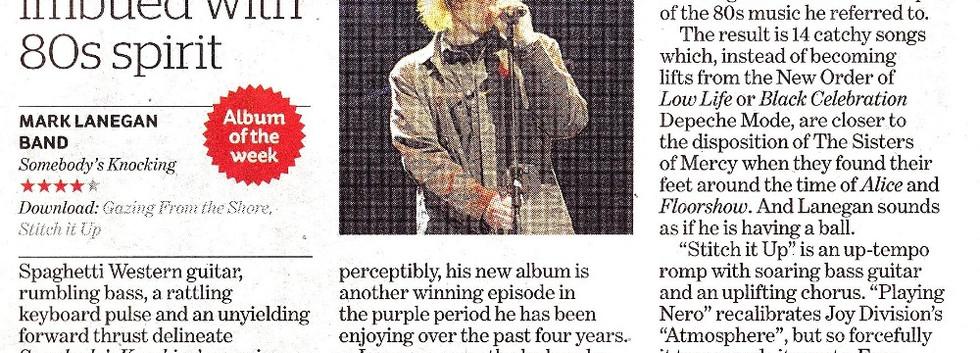 Mark Lanegan Band, Somebody's Knocking review, i (the newspaper)