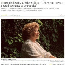 Shirley Collins, interview, The Arts Des