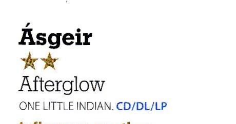 Ásgeir, Afterglow, MOJO