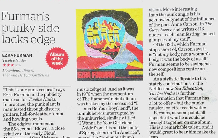 Ezra Furman, Twelve Nudes, i (the newspaper), review