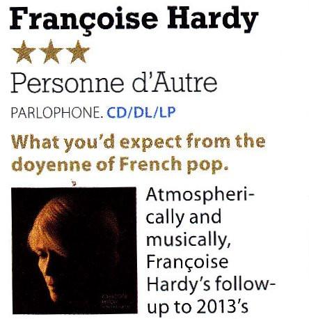 Françoise Hardy, Personne D'Autre, MOJO