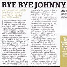 Johnny Hallyday, Obituary, MOJO 292, Mar