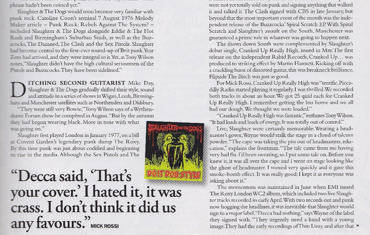 Slaughter & the Dogs, retrospective and interviews, Q Classic