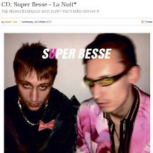 Super Besse,  La Nuit, The Arts Desk, 18