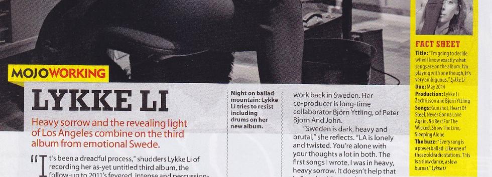 Lykke Li, I Never Learn, MOJO interview
