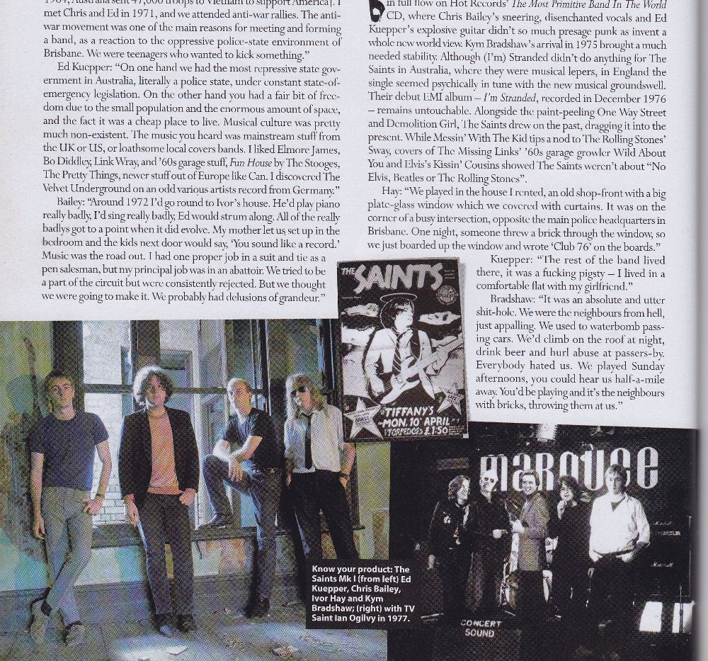 The Saints, interviews and retrospective, MOJO