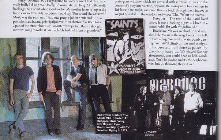The Saints, interviews and retrospective, MOJO