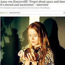 Anna von Hausswolff, Interview on Dead M