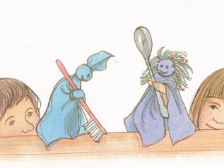 Kindergarten: Taschentuch-Puppen