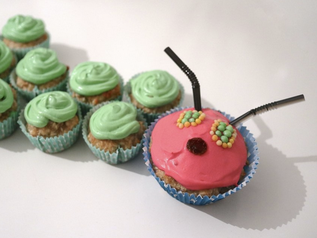 Kindergarten: Raupe Nimmersatt Muffins