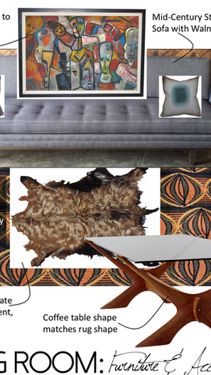 Funky & Psychedelic MidCentury Modern Living Room Design - So Fresh, So Klean!