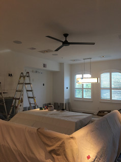 The After Installation Pic of Square Recessed Lighting Install
