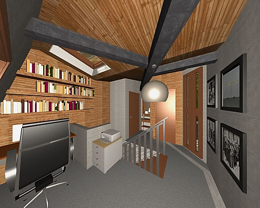 Home-Office-Design-Skylight-Slanted-Wall