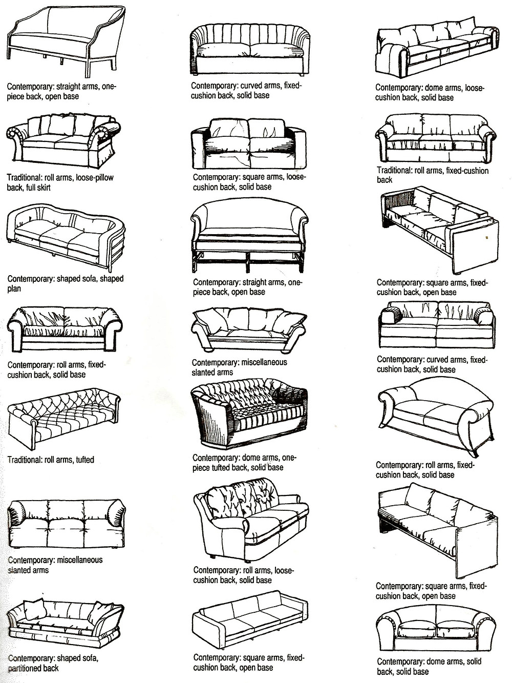 contemporary furniture styles