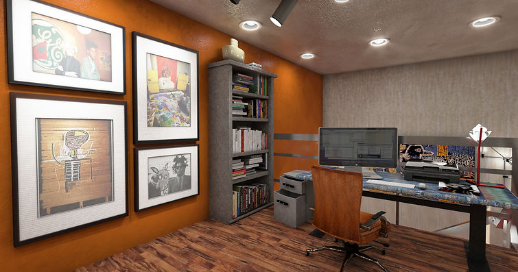 3D Image of Home Office Basquiat Loft