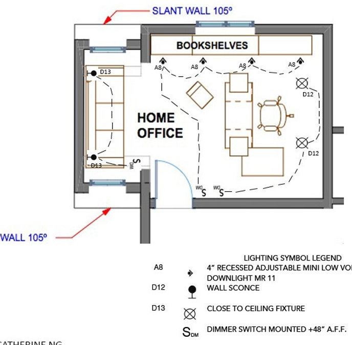 Home Office Lighting Plan Space Planning