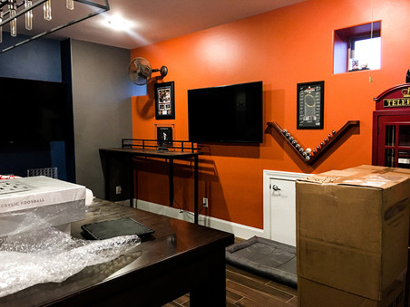 Houston Astros Themed Game Room