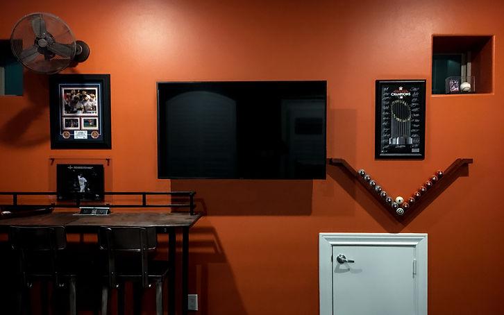 Game Room_Orange Wall_Pub Table_Astros B