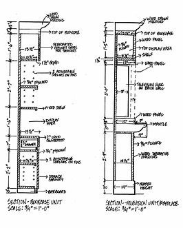 Bookcase Design_Section Drawings With Me