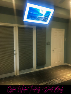 Hunter Douglass Duette Blinds and Ceiling TV Installation
