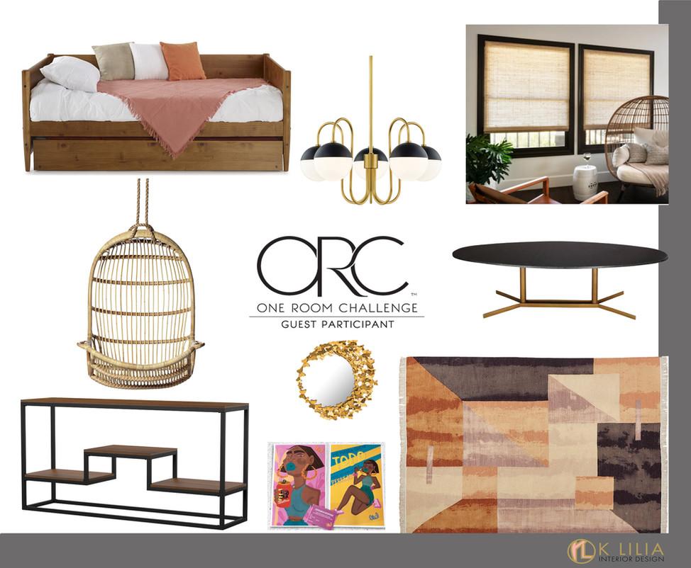 One Room Challenge – Spring 2021, Week 3: Design Concept + Furniture Board
