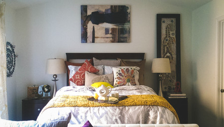 Eclectic & Vivacious Master Bedroom